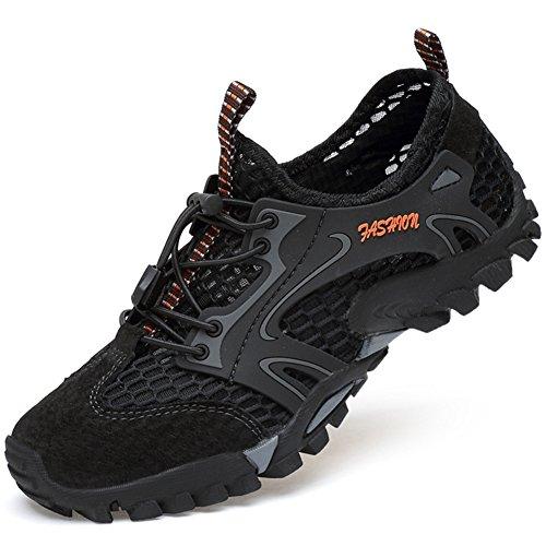 Basses wealsex Hommes Sandales Escalade Sport Marche Mesh de Noir Gym Antidérapant Respirant Chaussures Course Randonnée Ete wtrgtq