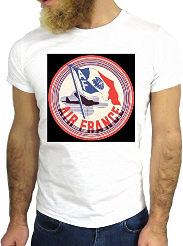 T-SHIRT JODE GGG24 HZ0239 FLAG FUN COOL VINTAGE ROCK FUNNY FASHION CARTOON NICE AMERICA BIANCA - WHITE XL