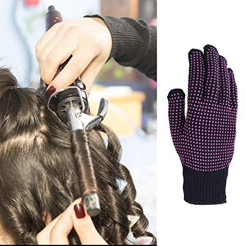 2 Piezas de Guante Resistente a Calor Guantes Antideslizantes de Silicona para Peinado Rizador Alisador de Pelo, para Todos Tamaños de Manos (Puntos ...