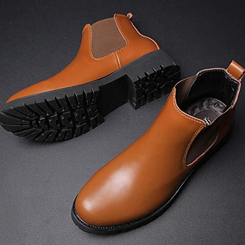 Pelle retr Corto Sicurezza Uomo Chelsea Autunno Classic Uomo E Inverno Boots Stivali da Tubo Brogue Nozze ZOaZfx
