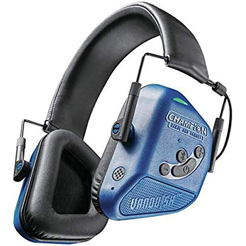 Champion Vanquish Pro Bluetooth Electronic Hearing Protection Muffs (Blue) (Champion Ear Protection)