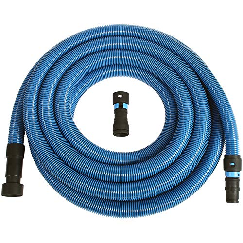 (Cen-Tec Systems 94522 30 Ft. Antistatic Wet/Dry Vacuum Hose for Shop Vacs with Universal Power Tool Adapter Set, Blue)