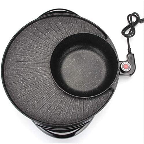 Grills électriques, Hot Pot BBQ Grill électrique intégré Hot Pot Home Multi-fonction Poêle Électrique Rôtissage Barbecue Machine Coréen Pan Non-stick Pan Pas De Poêle