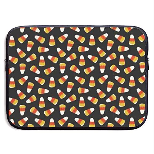 SWAKOJIJI Halloween Candy Corn 13/15 Inch Laptop Sleeve Bag for MacBook Air 11 13 15 Pro 13.3 15.4 Portable Zipper Laptop Bag Tablet Bag,Diving Fabric,Waterproof Black]()