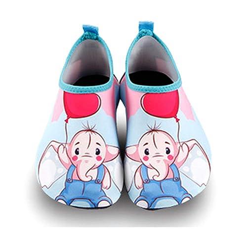 Ikeyo Zapatos de Agua Zapatos de niños niñas Escarpines de Verano Zapatillas de Playa Piscina Surf Yoga Secado Rápido