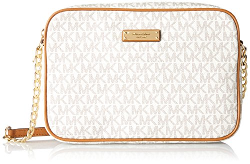 Michael Kors Women's Jet Set Large Crossbody Bag, Vanilla, OS by Michael Kors