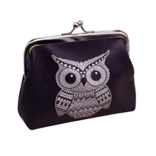 Misaky Womens Owl Wallet Card Holder Coin Purse Clutch Handbag