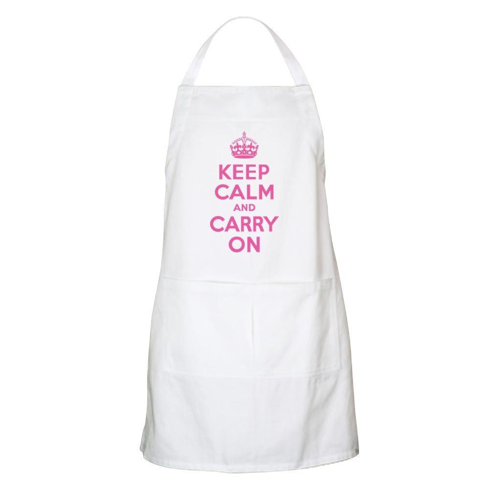 CafePress Keep Calm & Carry On エプロン グリルエプロン 046037497033332  ホワイト B0744DY7B3