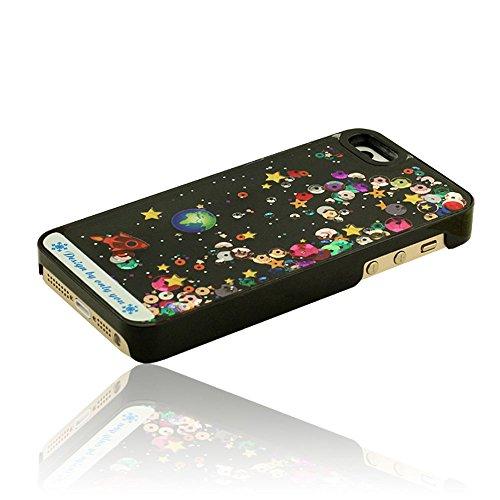 iPhone 5 5S Coque Liquide Case, Beau Fluide Fluente Ciel étoilé Dur Housse étui De Protection Pour iPhone 5 5S 5G Rubber Case Pattern Type