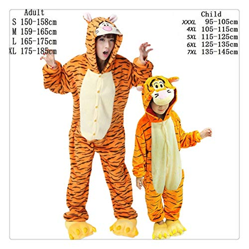 Women Pajamas Autumn Winter Child Flannel Animal Funny Animal Stitch Panda Unicorn Pajamas Nightgowns Onesie Sleepwear Tiger S ()