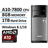 2016 New Edition ASUS High Performance Flagship Desktop, AMD Quad-Core A10-7800 Processor up to 3.9GHz, 8GB DDR3 RAM, 1TB HDD, 802.11ac WiFi, DVD, Bluetooth, Windows 8.1 (Free Upgrade to Windows 10)