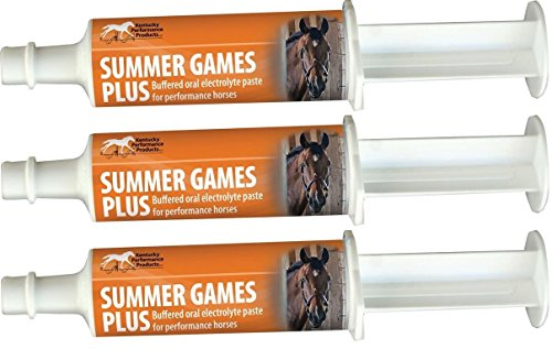 Kentucky Performance Prod (04409 Electrolyte Paste for Horses (3 Pack) 044093 60cc Summer Games Plus Elect