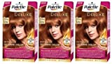 Schwarzkopf Palette Deluxe 370 Noble Light Copper Permanent Hair Dye 3x Dyes **IMPORT STOCK - NO ENGLISH INSTRUCTIONS PROVIDED**