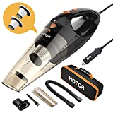 HOTOR Corded Car Vacuum Cleaner with LED Light, HOTOR DC12-Volt Wet/Dry Portable Handheld Auto Vacuum Cleaner for Car, 16.4 Feet Power Cord with Carry Bag Larger Image