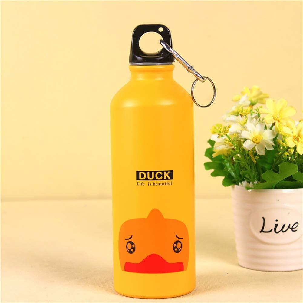 Botella port/átil de Aluminio de 500 ml para Animales de Gimnasio para Acampada al Aire Libre turkeybaby Taza de Viaje Cantimplora Deportiva
