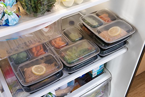 bento lunch box stores a total of 32 oz. of food, helping you to maintain your weight through simple portion control. Works great in conjunction with 21 day planner or any other diet plan.