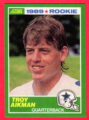 Troy Aikman 1989 Score Football Rookie Reprint Card ()