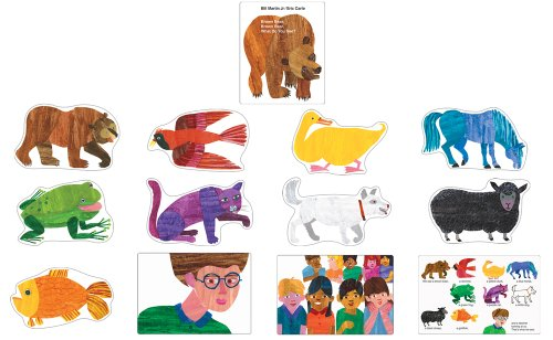 Carson Dellosa Brown Bear, Brown Bear, What Do You See? Bulletin Board Set (110134)