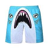 MIARHB Men's Funny Swim Trunks Summer Surf Beach Board Shorts with Side Pockets