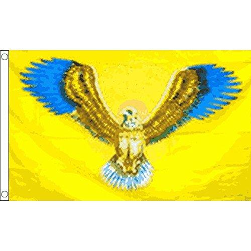 FLYING EAGLE FLAG 3' x 5' - GOLD EAGLE FLAGS 90 x 150 cm - B