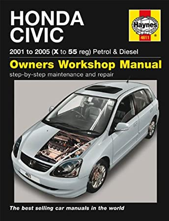 honda civic repair manual haynes manual service manual workshop rh amazon co uk Honda Civic Automatic Honda Civic Hybrid