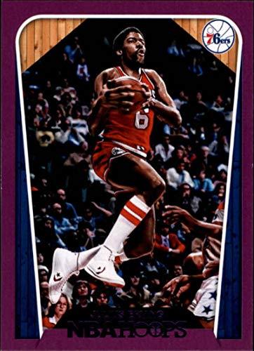 2d03642ae31 Amazon.com  2018-19 Panini Hoops Purple  287 Julius Erving Tribute Philadelphia  76ers NBA Basketball Trading Card  Collectibles   Fine Art