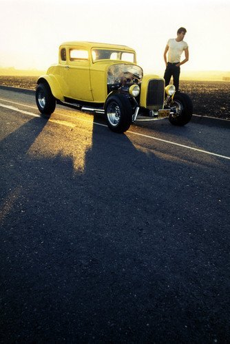 Lweike Paul Mat American Graffiti Classic '32 Ford Deuce Coupe Hot Rod Car 24x36 Poster 32 Ford Coupe Hot Rod