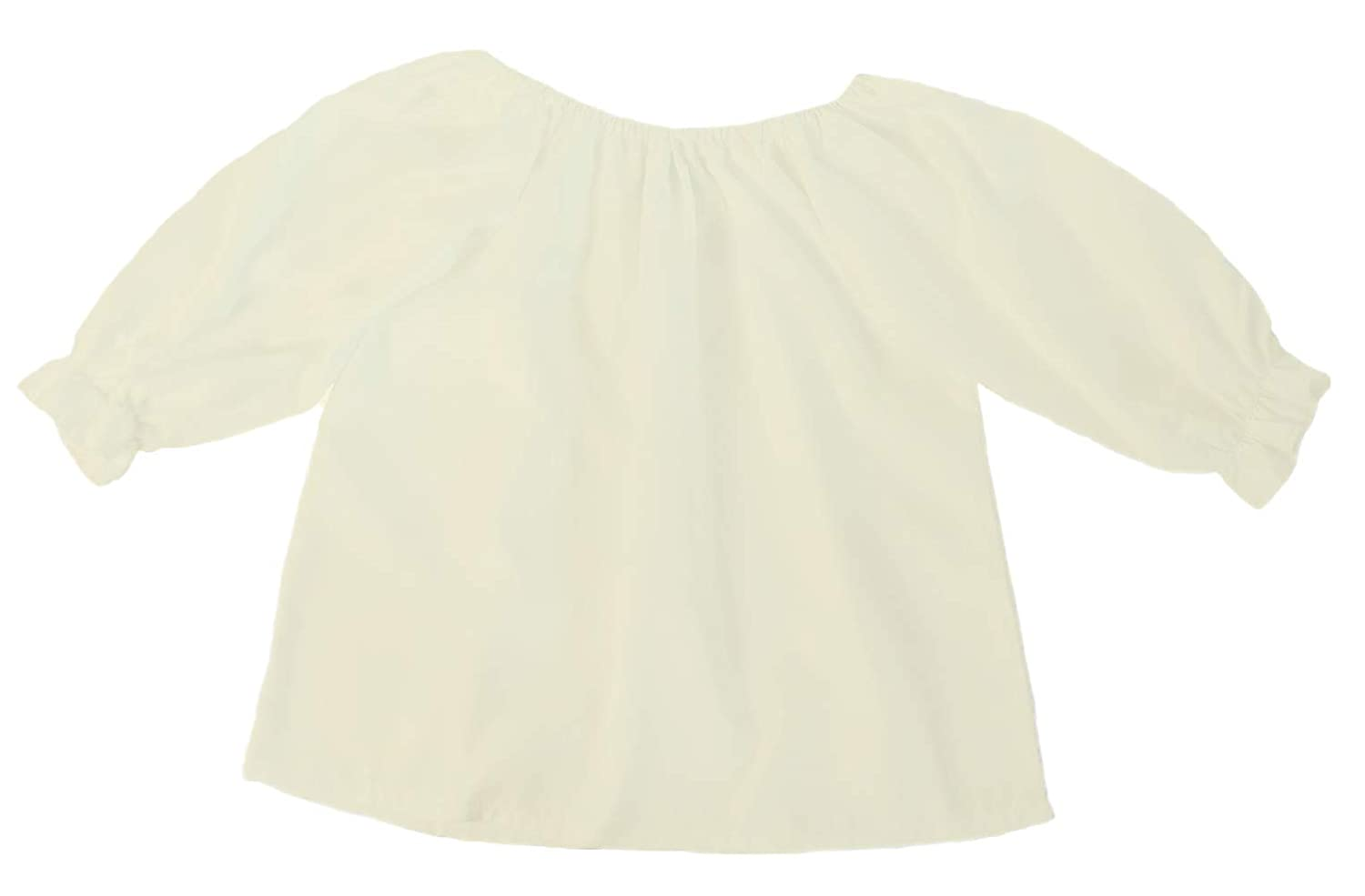 Girls 3//4 Long Sleeve Peasant Blouse Choose Color and Size