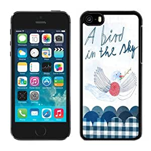 New Personalized Custom Designed For iPhone 5C Phone Case For A Bird In The Sky Doodle Phone Case Cover wangjiang maoyi