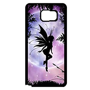 Samsung Galaxy Note 5 Mobile Shell Practical 3D Phone Case Snap on Samsung Galaxy Note 5 Elf Under Purple Background Pattern Cover