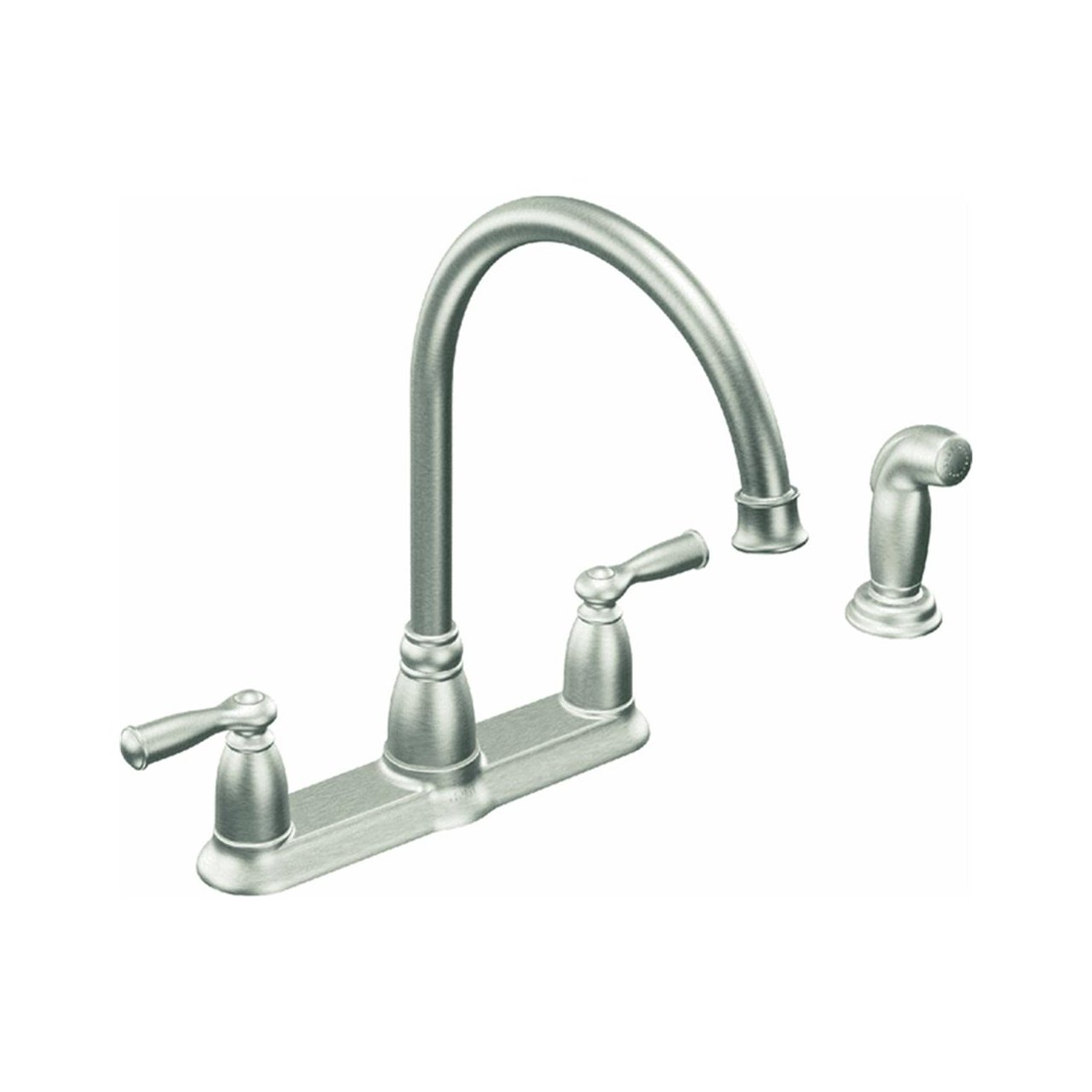 reflex single spot pull kleo power p and down faucet in moen faucets sprayer with stainless kitchen handle resist clean