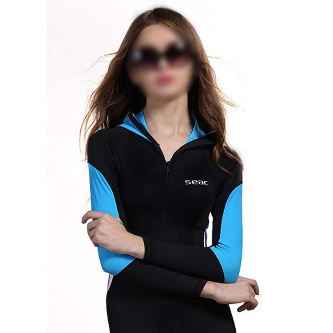 FELICIGG Wetsuit Damen Damen Damen weibliche U-Stiefel-Kleidung Sonnencreme Kleidung Wärmedämmung verknüpften Design Langarm-Hut B07PK2LXQT Neoprenanzüge Ausgezeichnet 82bf9e