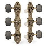 Golden Age Classical Guitar Tuners, Relic Brass with Ebony Knobs