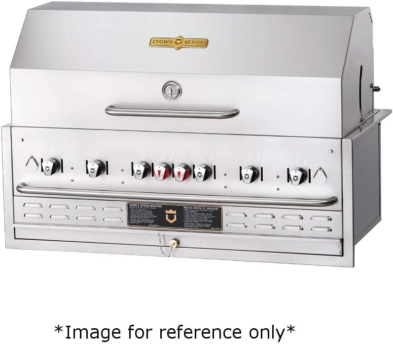 """Crown Verity CV-BI-48-2PKG-NG Built-in Outdoor Natural Gas Charbroiler, 46"""" x 21"""" Grill Area, Six Radiant Burners with Roll Dome, Bun Rack Assembly & Vinyl BBQ Cover 51WGDp4rRALSL1000_"""