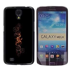 YiPhone /// Prima de resorte delgada de la cubierta del caso de Shell Armor - Flowers - Samsung Galaxy Mega 6.3 I9200 SGH-i527