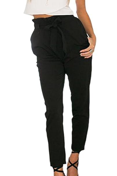Vepodrau Damen Shorts Sommer Hohe Taille Gürtel Lose Hotpants Kurze Hosen  mit Taschen  Amazon.de  Bekleidung a7eabe16b0