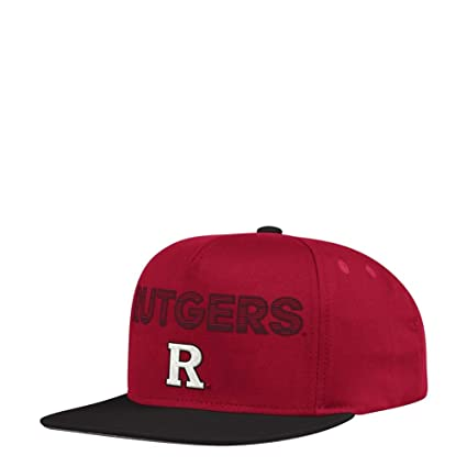 buy online eed8c c77ca Image Unavailable. Image not available for. Color  adidas Rutgers  University Snapback Flat Brim Snapback Hat