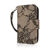 zte concord ii case - Empire MPERO FLEX Flip Wallet Case for ZTE Concord 2 - Retail Packaging - Black Lace