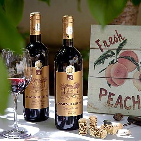 Thursday April 100 Pieces Corchos de Vino Tapones de Botella de Corcho Natural Tapón de Corcho Recto Premium Excelente para Vino Embotellado(Marrón, 2,1 * 3,8cm)