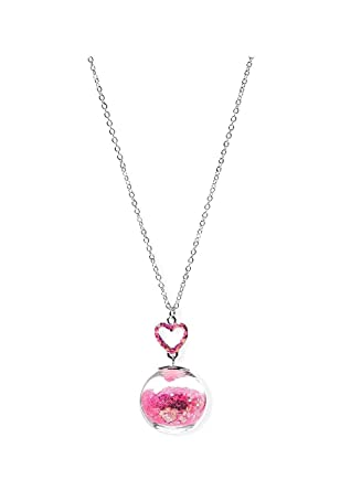 Amazon justice valentines glitter globe pendant necklace justice valentines glitter globe pendant necklace mozeypictures Gallery