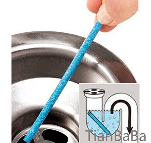 TianBaBa 48Pcs Sink Deodorant Stick Blue Magic Clean Sewer Deodorant Stick Pipeline