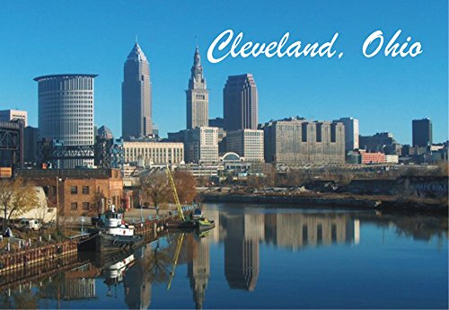 Cleveland, Ohio, City Skyline, OH, Souvenir Magnet 2 x 3 Photo Fridge - Stores Cleveland Airport