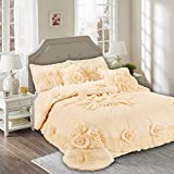 Tache Home Fashion 002-3-Q Comforter Set, Queen, Yellow