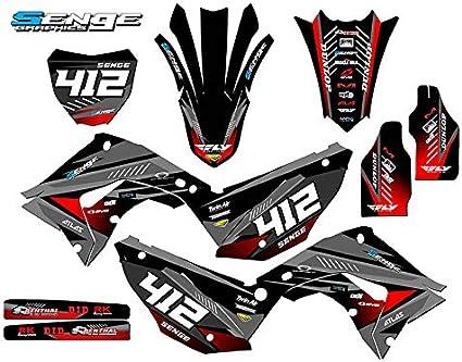 Works Red Base Graphics kit Senge Graphics kit compatible with Honda 2002-2012 CR 125