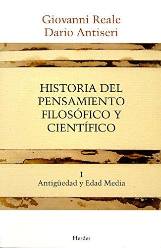 Historia del pensamiento filosófico y científico I ...
