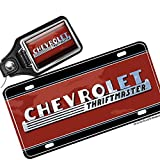 chevy truck keychain - Brotherhood Old Chevrolet Truck Thriftmaster Emblem Design License Plate and Matching Key Ring