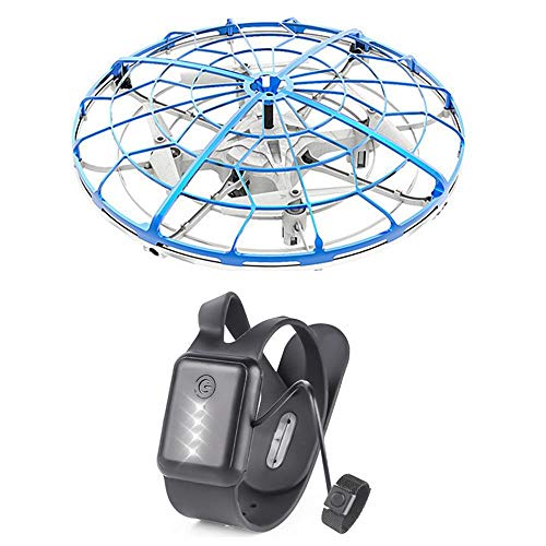 (Tawcal Mini Flying Drone for Kids, Six-Probe Gravity Induction Flying Aircraft Headless Mode Bright LED Light Throw RC Helicopter Quadcopter Interactive Toys for Children Adults Beginners)