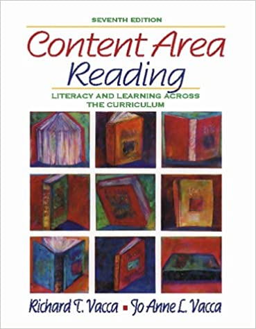 9780321088109: content area reading: literacy and learning across.