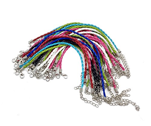 yueton Mixed Leather Plaited Charms