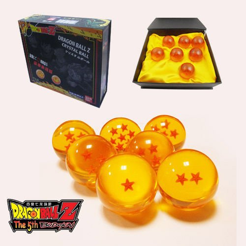 Dragon Ball 7PCS/Set JP Anime DragonBall Z Stereo Stars Crystal 4cm Ball in Box